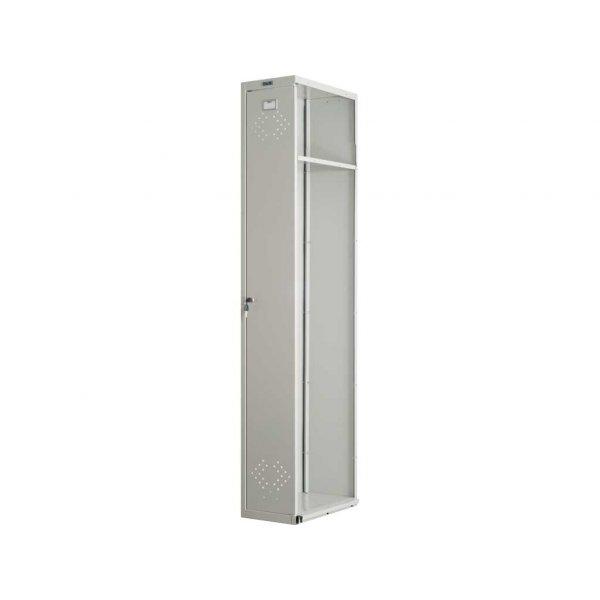 Шкаф металлический для одежды ПРАКТИК LS-001-40 (ПРИСТАВНАЯ СЕКЦИЯ)