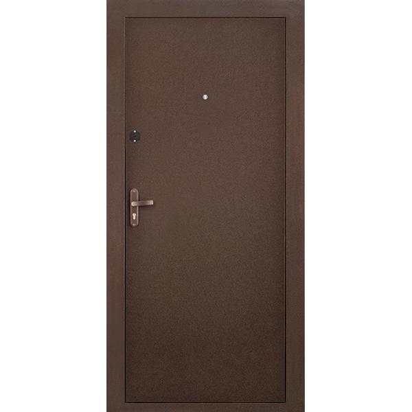 Металлическая дверь РОНДО 2 (2050х880мм) толщина 75мм, цвет:  Медный антик