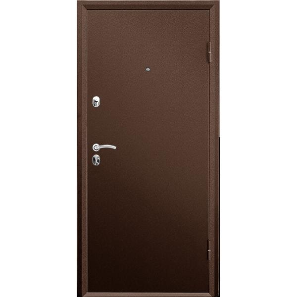 Металлическая дверь ПРАКТИК МЕТАЛЛ-МЕТАЛЛ (2066х880мм) толщина 108мм, цвет:  Медный антик