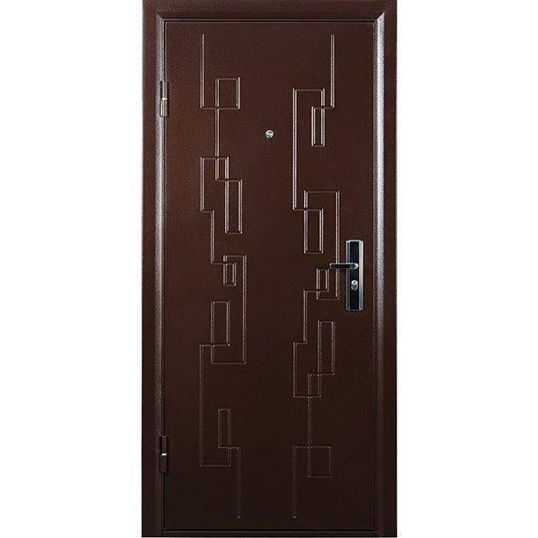 Металлическая дверь СИТИ (2066х880мм) толщина 108мм, цвет:  Медный антик, Итальянский орех